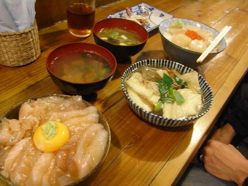 青森の朝食と昼食、そして晩御飯