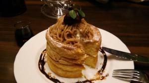 栗のスフレパンケーキ(ダブル)