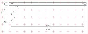 アルミ補強バーの寸法図