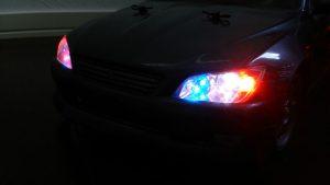 ライト点灯!