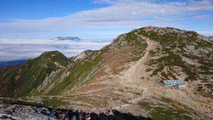中岳から駒ケ岳を望む