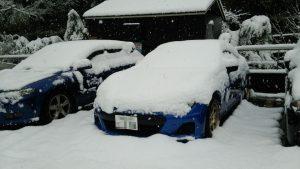 雪に埋もれた3号機