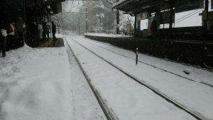 雪国の駅!?