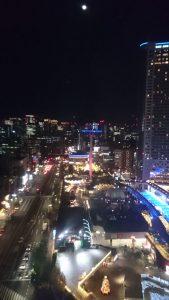 観覧車から夜景を眺める
