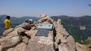 鎌ケ岳山頂の様子