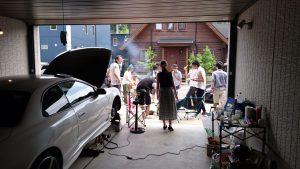ガレージ内からパチリ