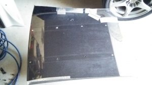 アルミテープとプラ板(?)で型作り
